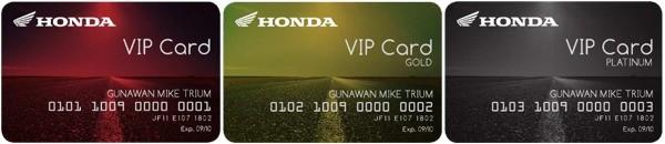 Jenis Kartu Honda VIP Card