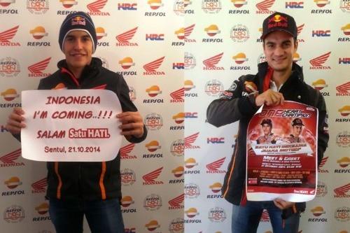 Meet Greet Marc Marquez Dan Dani Pedrosa Indonesia Im Coming