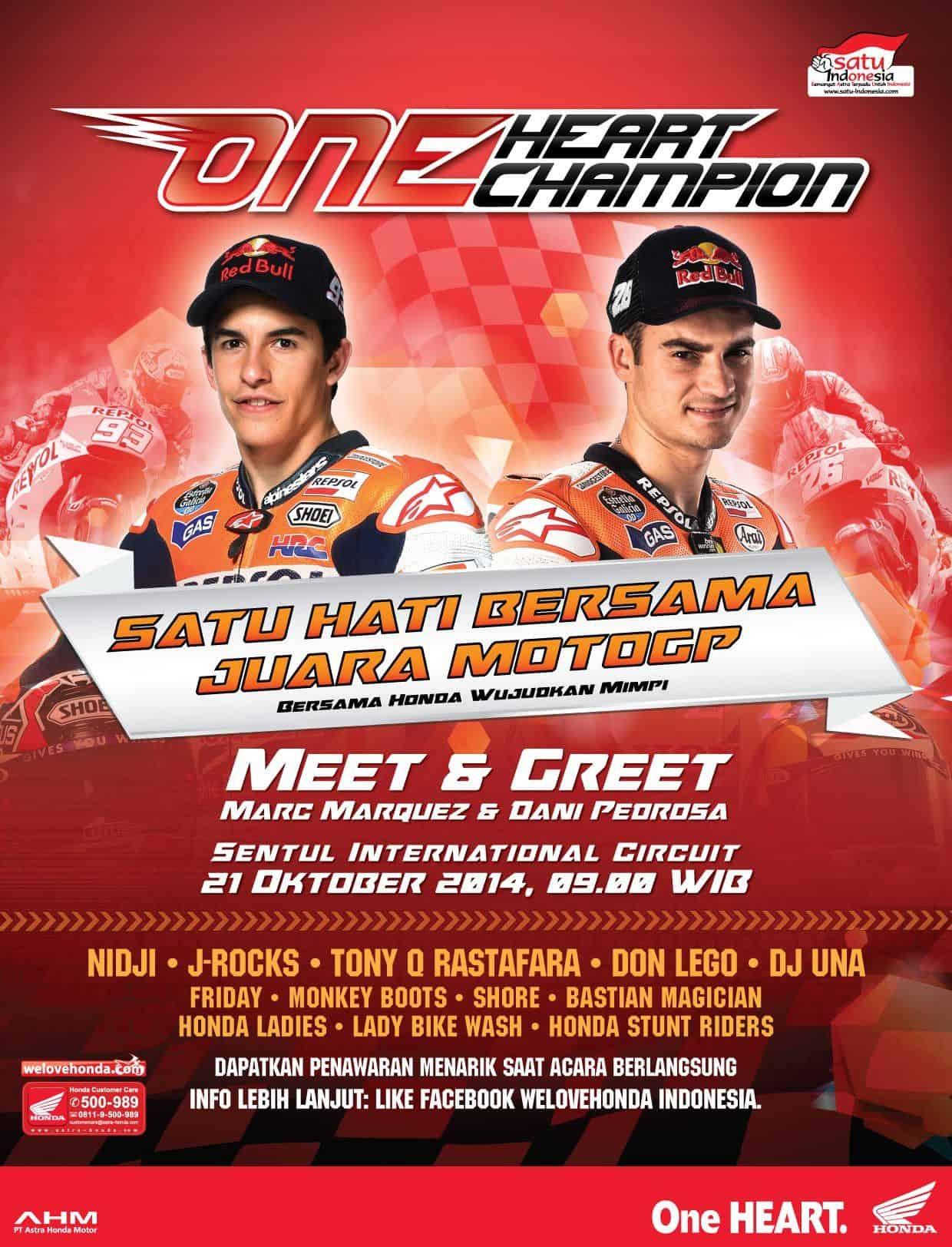 Meet Greet Marc Marquez Dan Dani Pedrosa Gratis