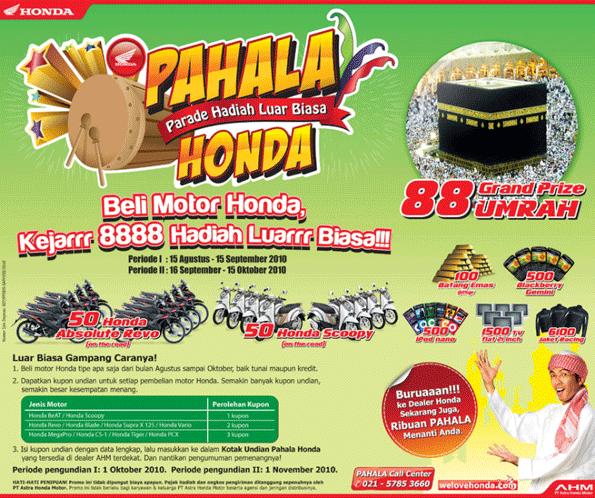 Pahala Honda - Parade Hadiah Luar Biasa