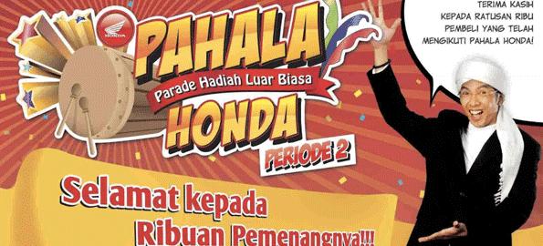 Info Pengambilan Hadiah Pahala Honda