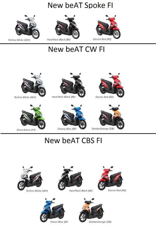 Pilihan Warna Honda BeAT FI