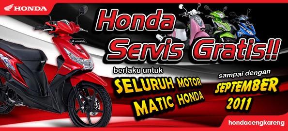 Program Servis Gratis Matic Honda