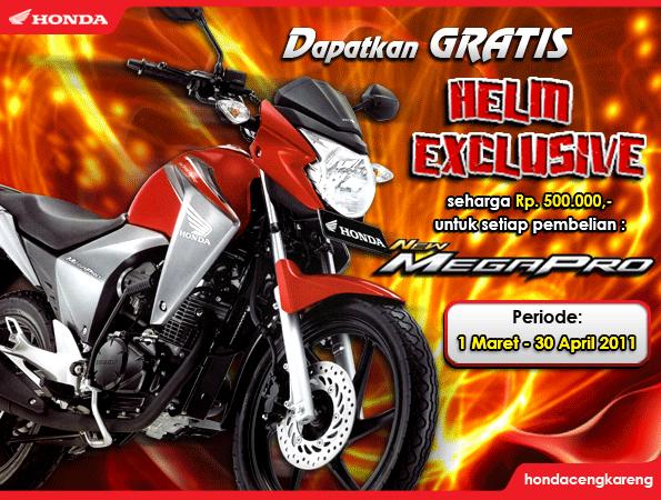 Promo Honda New Mega Pro berhadiah helm exclusive