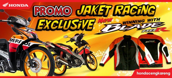 Promo Jaket Racing Exclusive New Honda Blade
