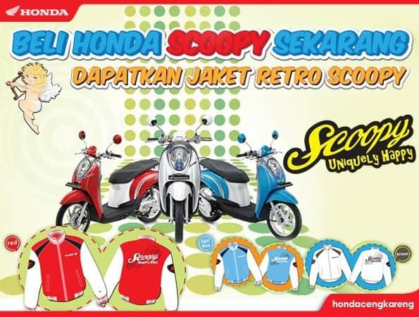Promo Jaket Retro Honda Scoopy