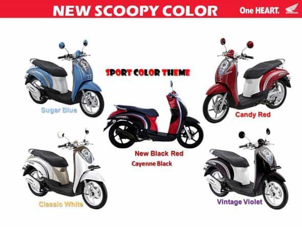 Warna Baru Honda Scoopy Cayenne Black