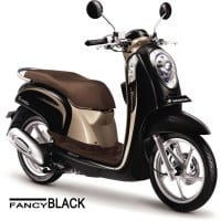 Honda Scoopy FI Stylish Fancy Black