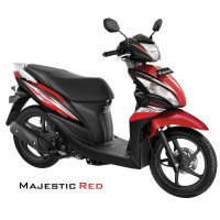 Honda Spacy Helm-in PGM-FI Majestic Red